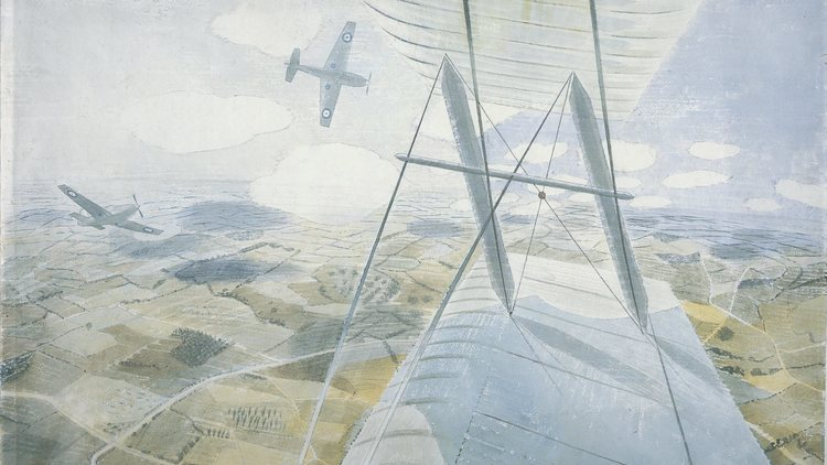 Eric Ravilious Hurricane in Flight 1942 Private Collection