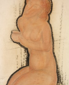 Painting-of-naked-woman-holding-a-cup    Images, above Amedeo Modigliani, L' Amazone, 1909. Courtesy Richard Nathanson, London.