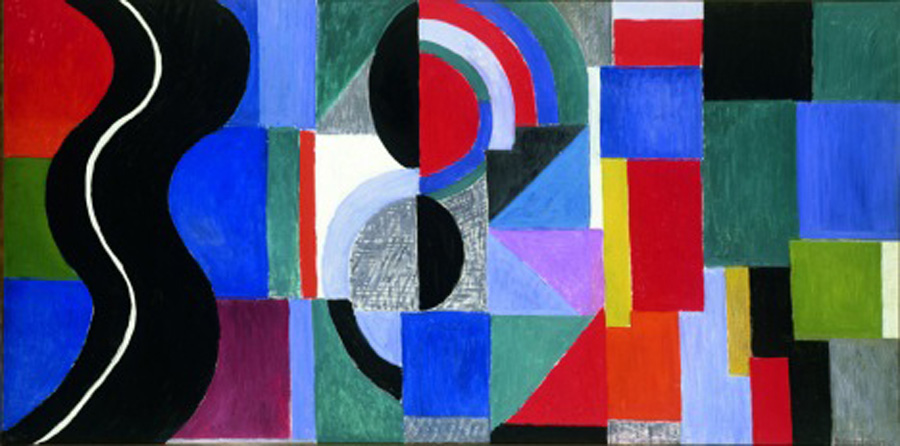 Sonia Delaunay Syncopated rhythm, so-called The Black Snake 1967 Musée des Beaux-Arts, Nantes, France
