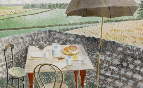 eric ravilious Tea at Furlongs 1939 The fry Art Gallery_1000