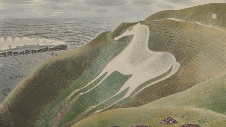 eric ravilious The Westbury Horse 1939 Private Collection