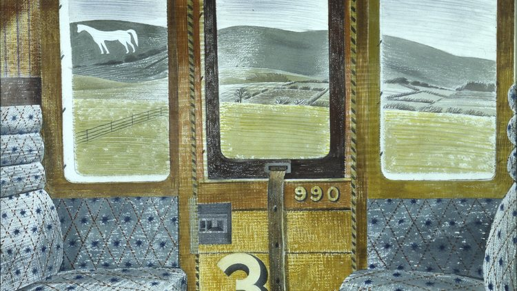 eric ravilious Train lanscape 1940 Aberdeen Art Gallery and Museums Collection
