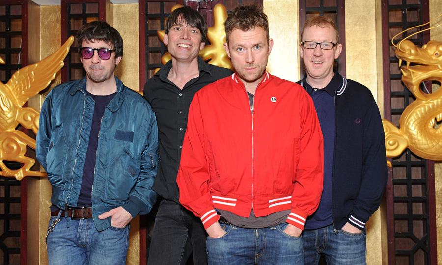 From left, Graham Coxon, Alex James, Damon Albarn and Dave Rowntree of Blur.