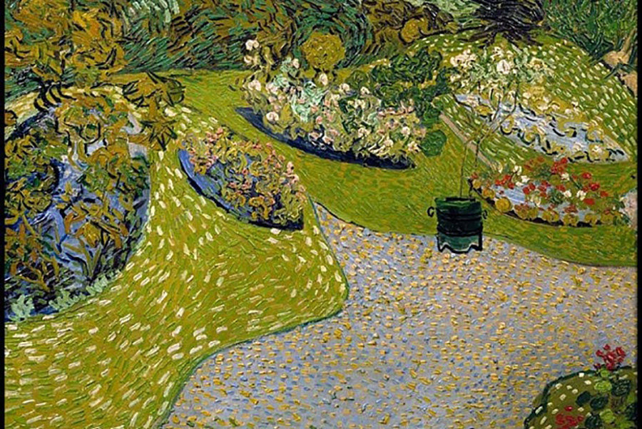 Vincent van Gogh, Garden at Auvers (1890). Private Collection