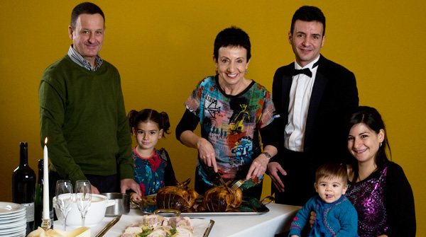 Carme Ruscalleda with her family