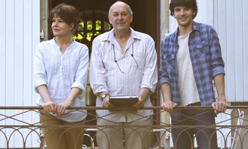 On the set of Waiting For You. Fanny Ardant, Charles Garrad and Colin Morgan 1-6